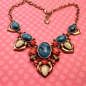 Betsey Johnson Crystal Turquoise Necklace